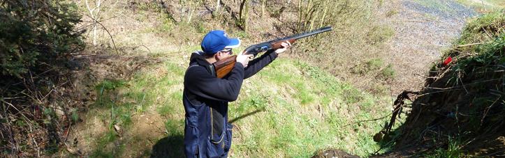 A Club member at JJ's Shooting Ground near Dartford.