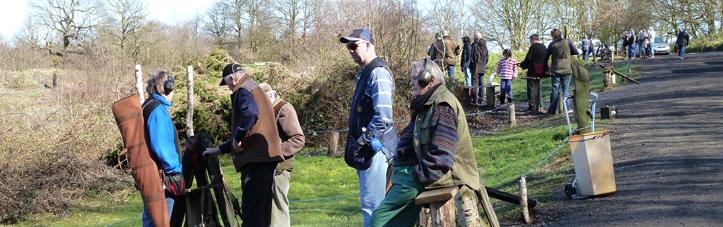 Club members at JJ's Shooting Ground near Dartford.
